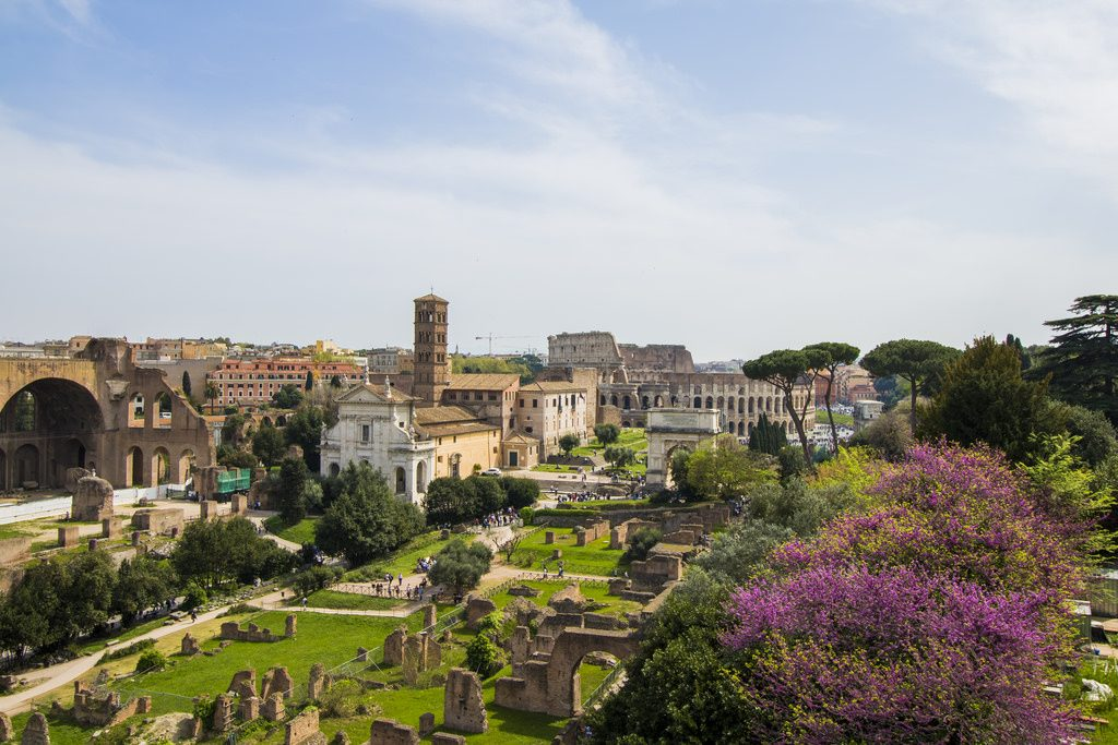 Vista del Colle Palatino - Scenario Il Divo Nerone