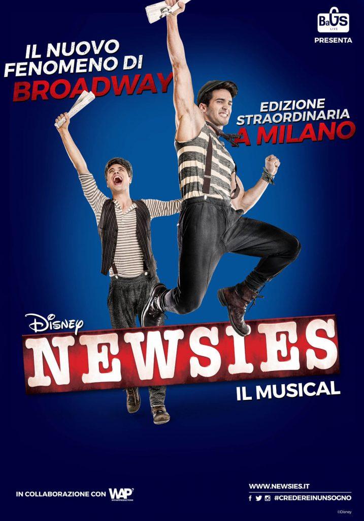 newsies musical milano poster