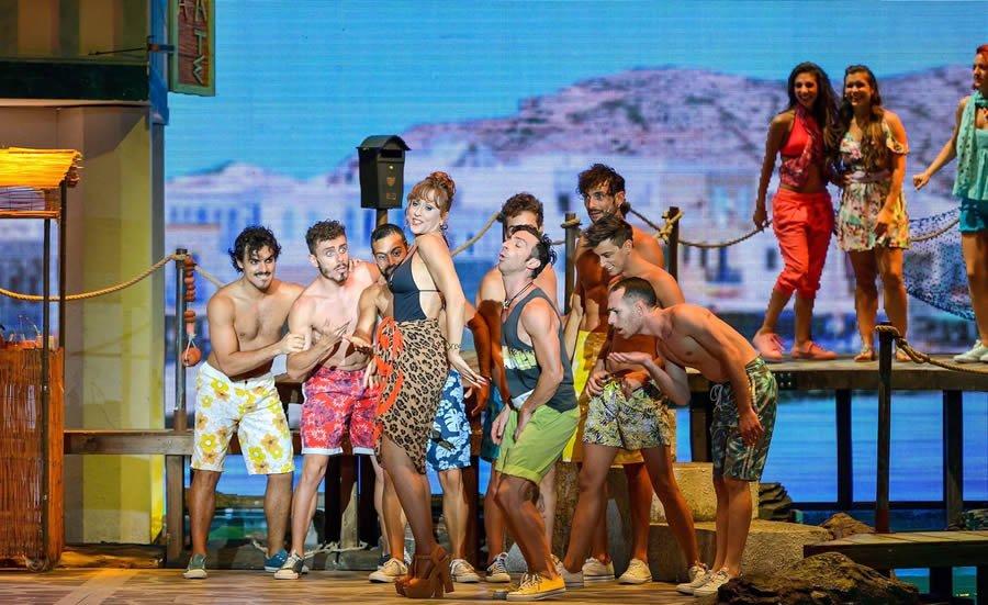 Un scena del Musical Mamma Mia!