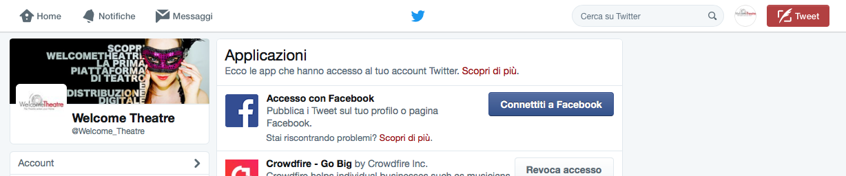 Collegare Twitter a Facebook