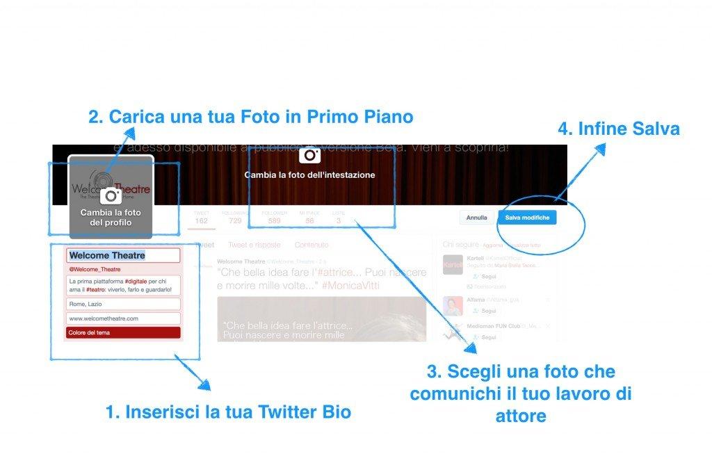 Modifica Twitter Bio