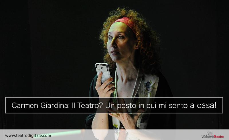 L'attrice Carmen Giardina al Teatro Due di Roma