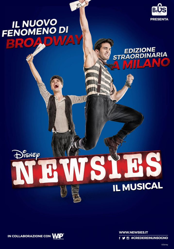 newsies musical milano poster