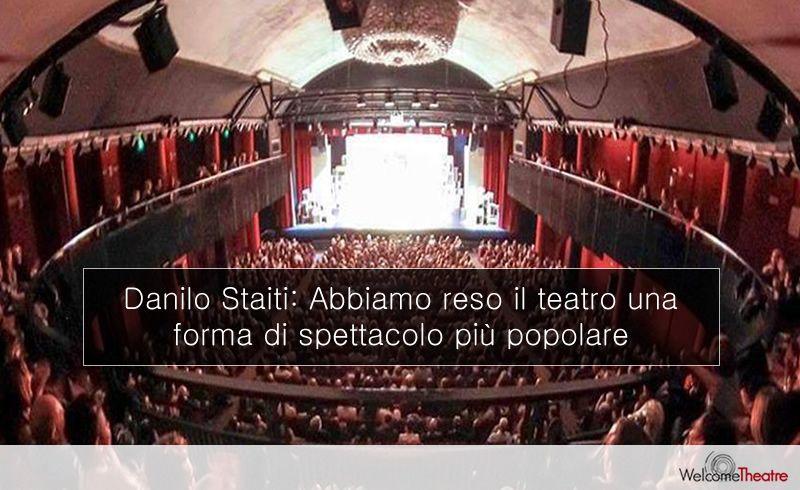 Danilo Staiti, direttore artistico del Politeama Genovese